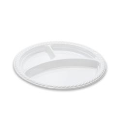 Dimexsa Plastic Plate Special Type 3Portion 22CM 25PCS 0520009-1 5202501911617