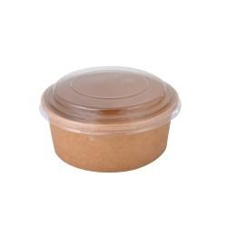 Dimexsa Round Paper Kraft Bowl With Lid 750GR 50PCS 0530093-75 0151250000