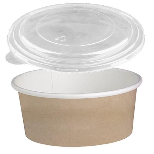Dimexsa Round Paper Kraft-White Bowl With Lid 1150GR 25PCS 0530087-CR 0151250002
