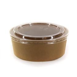 Dimexsa Round Paper Kraft Bowl With Lid 1150GR 25PCS 0530093-115 0151250003