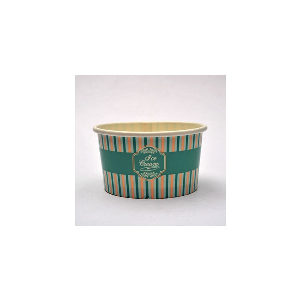 INTERTAN Paper Round Ice Cream Bowl 4Oz 50PCS 000982 0151250004