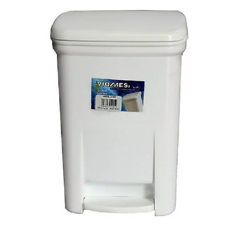 OEM Viomes Plastic Rubbish Bin With Pedal 40LT White 14111 ΛΕΥΚΟ 5203493011460