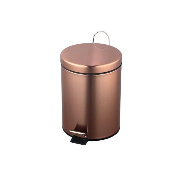 ΚΥΚΛΩΨ Waste Basket With Foot Pedal Bronze 5Lt 004101273 5202707006759