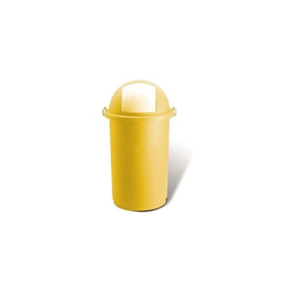 OEM Χαρτοδοχείο Πλαστικό Push Με Κλιπς 50LT Κίτρινο 23-25-412 8002942018718