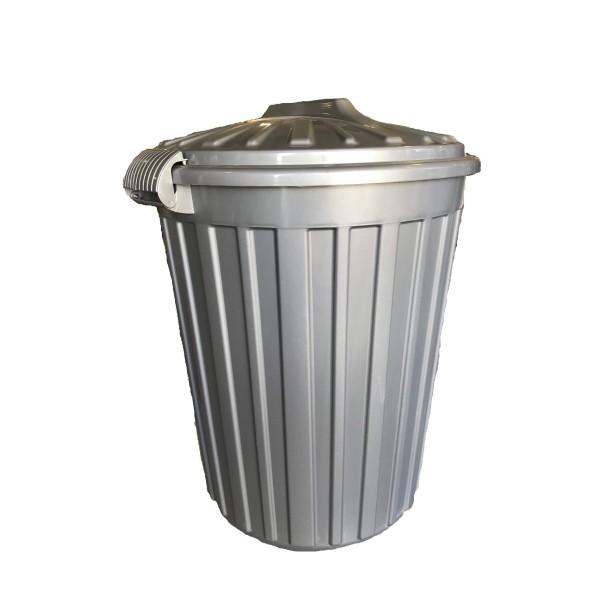 ΚΥΚΛΩΨ Plastic Rubbish Bin With Clips 40LT Grey 003301470 5202707000788