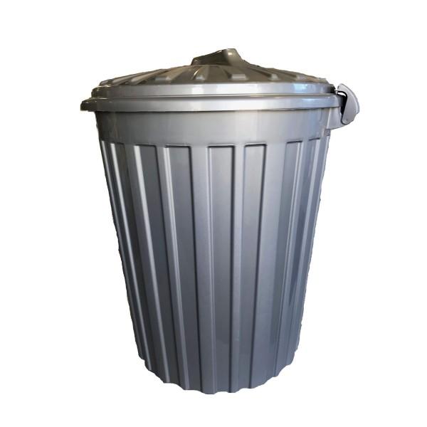 ΚΥΚΛΩΨ Plastic Rubbish Bin With Clips 60LT Grey 00331034 5202707990942