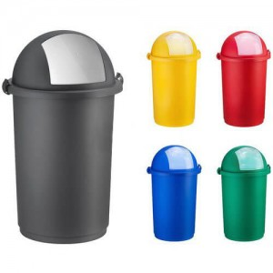 OEM Χαρτοδοχείο Πλαστικό Push Με Κλιπς 50LT Κόκκινο 23-25-410 8002942011047