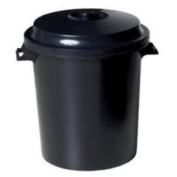 OEM Plastic Rubbish Bin With Lid 50LT Black 31239 8410474312394