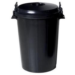 OEM Plastic Rubbish Bin With Lid 100LT Black 31139 8410474311793