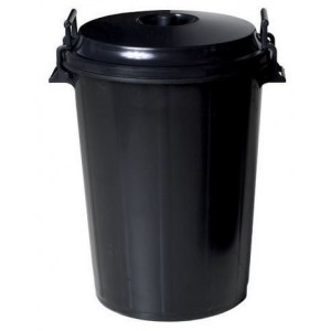 OEM Plastic Rubbish Bin With Lid 100LT Black 31139 8410474311793