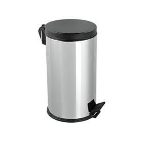 Mopatex Wc Waste Bin Inox Black Lid 8LT 1603 0161020002