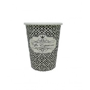 Dimexsa Paper Cups 4Oz Black Coffee Exprerience 50PCS 0530038 ΜΑΥΡΟ 0150210028