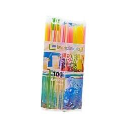 lariplast Bended Strαws Multicοlor 100PCS 0443 5202287000611