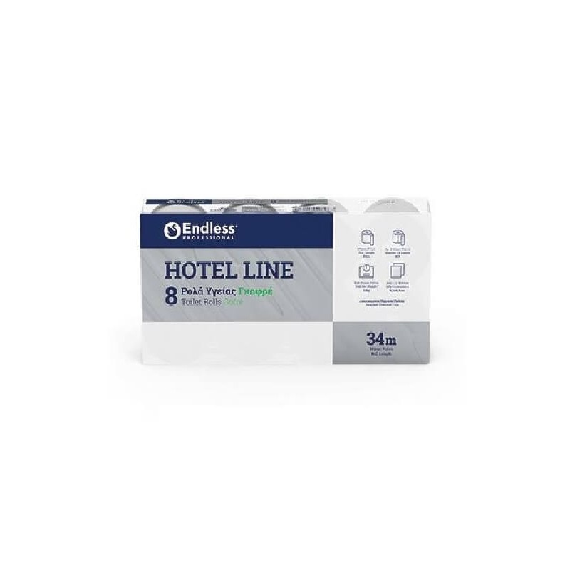 Endless 8 Hygiene Paper Rolls Hotel Line Gofre 1100110808 5202995009869