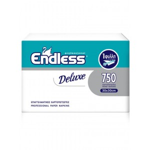 Endless Plain Napkins Deluxe Soft White 750PCS 30X30 1100300041 5202995009722