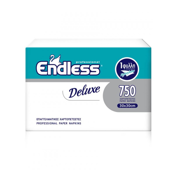 Endless Χαρτοπετσέτα Deluxe Λευκή 750ΤΕΜ 30Χ30 1100300041 5202995009722