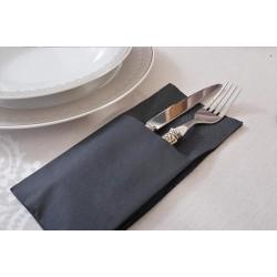 finezza Napkin Airlaid Pocket Fold Black 80PCS 33X33 4Σ-ΑΤ-20 0140430030