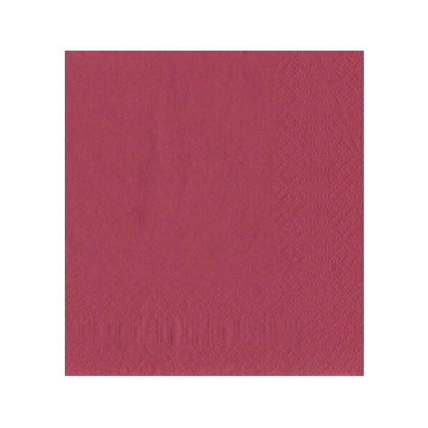 finezza Napkin Luxury Bordeaux 500PCS 24X24 ΠΟΛΥΤΕΛΕΙΑΣ ΜΠΟΡΝΤΩ 24Χ24 0140430037