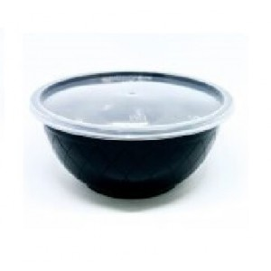 Θαλασσινός Utensil Round Black Microwave Set 1000ML 50PCS ΕΜ.6844 0150540011