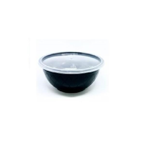 Θαλασσινός Utensil Round Black Microwave Set 1000ML 50PCS ΕΜ.6844 0150540011