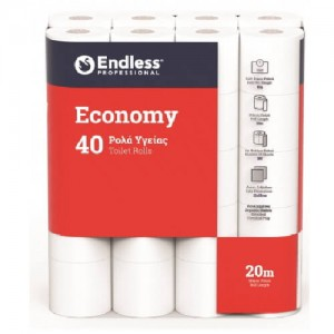 Endless 40 Hygiene Paper Rolls Gofre Economy 1100114004 5202995009609