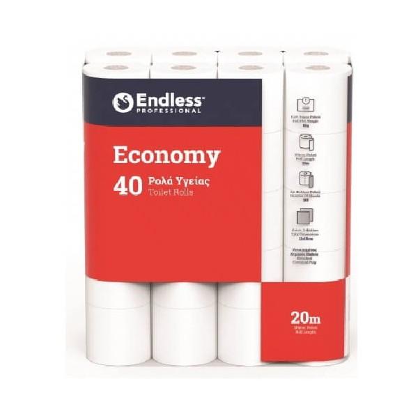 Endless 40 Ρολά Υγείας Gofre Economy 1100114004 5202995009609