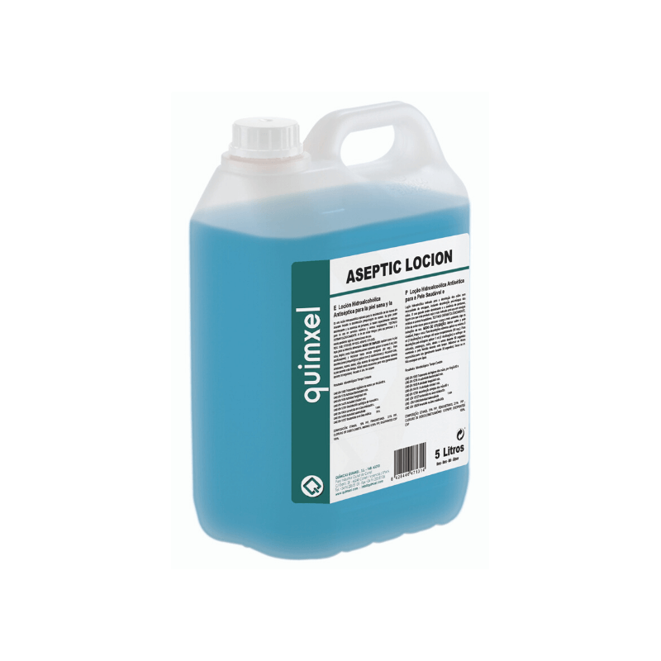 quimxel Aseptic Hydro Alcohol Antiseptic Locion 5LT 0470131 8428446471314