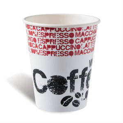 Dimexsa Paper Cups 8OZ Black Coffee Lovers 50PCS 0530002-1 0150210040