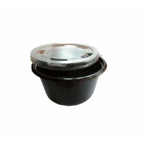 Θαλασσινός Utensil Round Black Microwave Set 750ML 50PCS ΕΜ.6843 0150540013