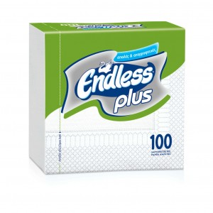 Endless Napkin Plus 100PCS 30Χ30 White 1100300022 5202995008428
