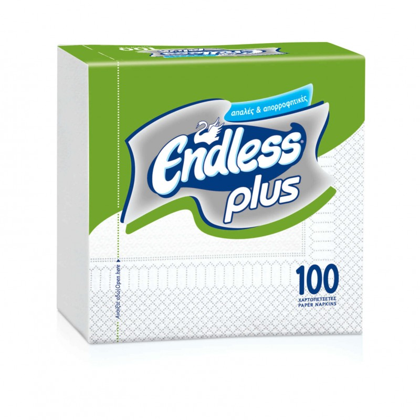 Endless Napkin Plus 100PCS 30Χ30 White 1100300022 5202995008428