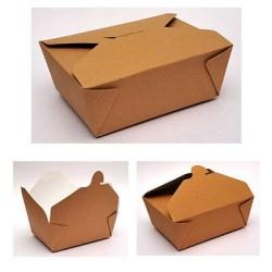 4way Paper Kraft Box Club And Burger Ready 80PCS 00153-1 0150780014
