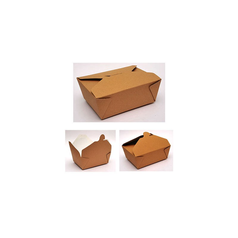 4way Paper Kraft Box Club And Burger Ready 80PCS 00153-1 0150780014