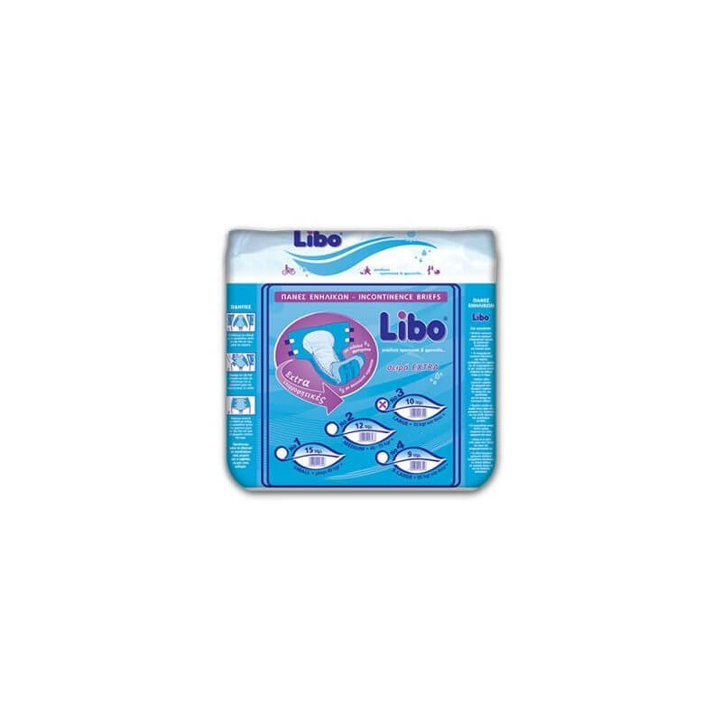 LIBO Incontinence Extra Diapers Large 10Pcs 2.3.006 5204899200090