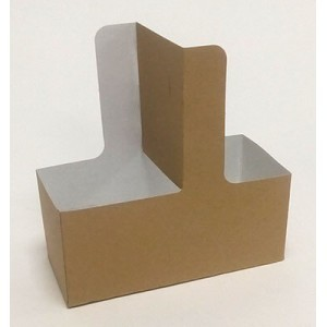 Αφοί Ρόη Paper Cup Holder With Handle 2 Position Kraft 25PCS 5482 0151160009
