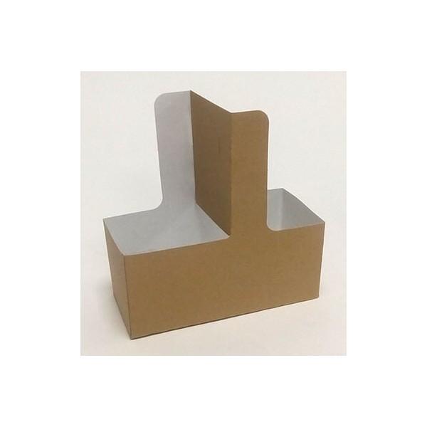Αφοί Ρόη Paper Cup Holder With Handle 2 Position Kraft 25PCS 5482 0151160009