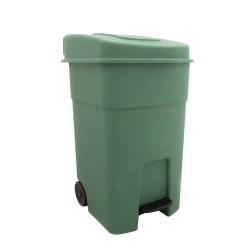 ΚΥΚΛΩΨ Κάδος Απορριμάτων Με Πετάλ Και Ρόδες Πράσινος 80LT 003301788 5202707991055