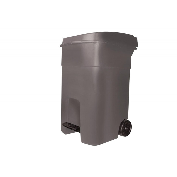 ΚΥΚΛΩΨ Drum With Wheels And Pedal Grey 80Lt 003301462 5202707003055