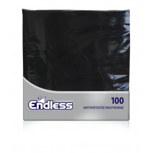 Endless Napkin Luxury Black 100PCS 38X38 1100380011 5202995008657