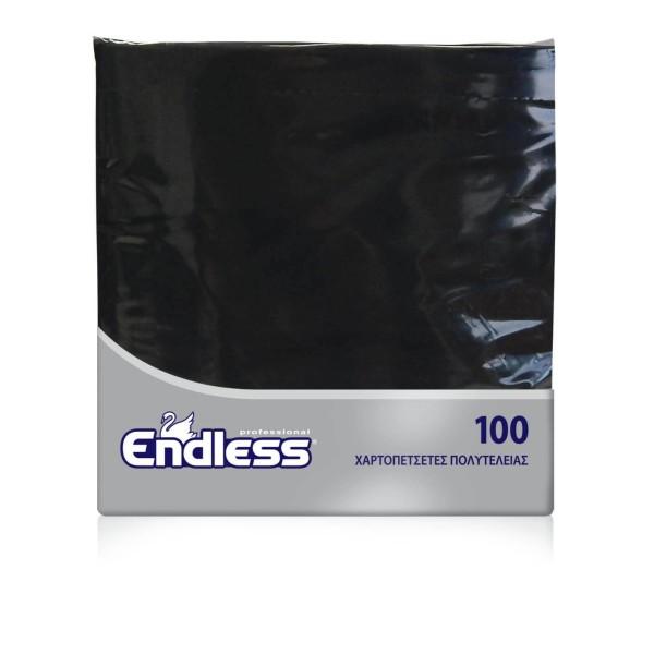 Endless Χαρτοπετσέτα Πολυτελείας Μαύρη 100 Τεμάχια 38Χ38 1100380011 5202995008657