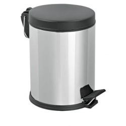 Mopatex Wc Waste Bin Inox Black Lid 12LT 1604 0161020010