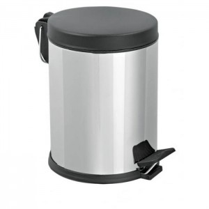 Mopatex Wc Waste Bin Inox Black Lid 12LT 1604 0161020010