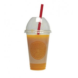 "4way Plastic Transparent Cups PET ""Orange"" 50Pcs 0001059-1 0150220029"