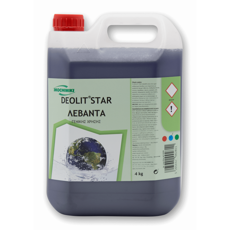 ΟΙΚΟΧΗΜΙΚΗ Deolit Star All Purpose Cleaner Lavender 4Kg 13151501038 5205662002811