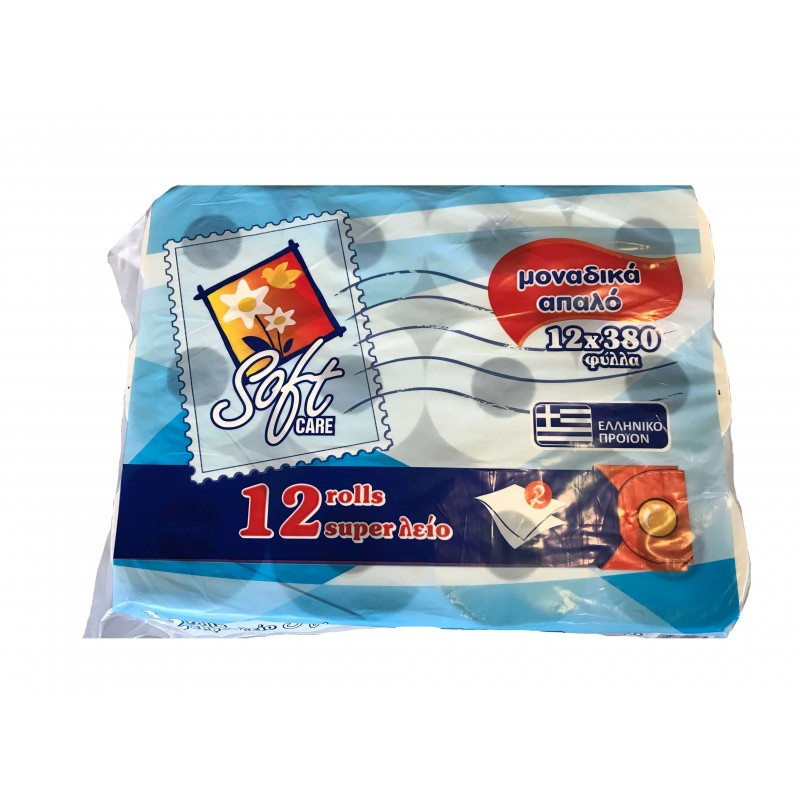 Softcare 12 Hygiene Paper Rolls 380 Sheets  40-0039 5204518400085