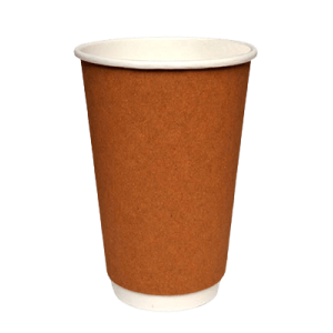 Packoflex Paper Double Wall Cups 16OZ Kraft 25PCS 0001082-2 0150210041