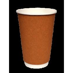 Packoflex Paper Double Wall Cups 16OZ Kraft 25PCS 0001082-2 0150210041