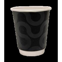 4way Χάρτινο Ποτήρι Διπλότειχο 8ΟΖ Premium Black 25ΤΕΜ 0001223-1 0150210066