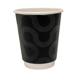 4way Paper Double Wall Cups 8OZ Premium Black 25PCS 0001223-1 0150210066