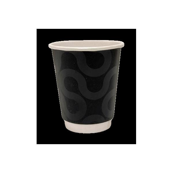 4way Paper Double Wall Cups 8OZ Premium Black 25PCS 0001223-1 0150210066